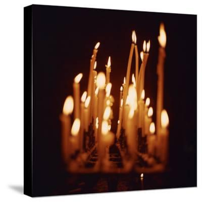 Candles, Chartres Cathedral, France, Europe-Robert Harding-Stretched Canvas Print