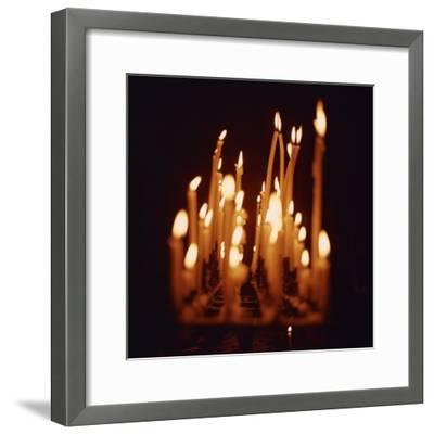 Candles, Chartres Cathedral, France, Europe-Robert Harding-Framed Photographic Print