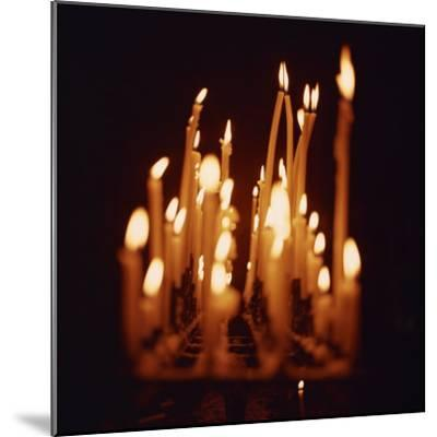 Candles, Chartres Cathedral, France, Europe-Robert Harding-Mounted Photographic Print