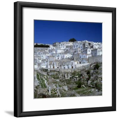 Houses of the Village of Monte Sant Angelo in Puglia, Italy, Europe-Tony Gervis-Framed Photographic Print