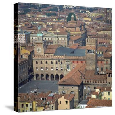 Aerial View over Central Bologna, Emilia-Romagna, Italy, Europe-Tony Gervis-Stretched Canvas Print