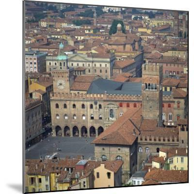 Aerial View over Central Bologna, Emilia-Romagna, Italy, Europe-Tony Gervis-Mounted Photographic Print