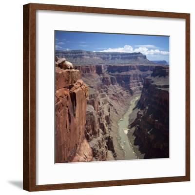 Deep Gorge of the Colorado River on the West Rim of the Grand Canyon, Arizona, USA-Tony Gervis-Framed Photographic Print