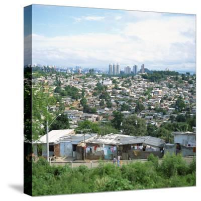 Sao Paolo Shanty Town, Brazil, South America-David Lomax-Stretched Canvas Print
