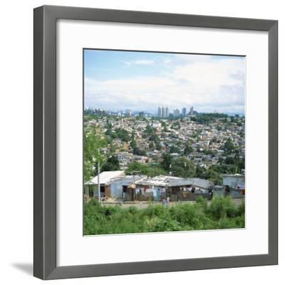 Sao Paolo Shanty Town, Brazil, South America-David Lomax-Framed Photographic Print