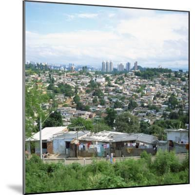 Sao Paolo Shanty Town, Brazil, South America-David Lomax-Mounted Photographic Print