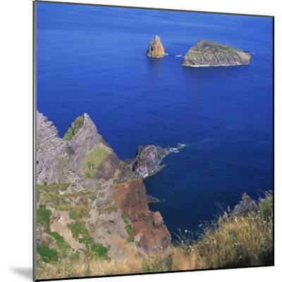 Rock Formations on the Volcanic Coastline on the Island of Graciosa in the Azores, Portugal-David Lomax-Mounted Photographic Print