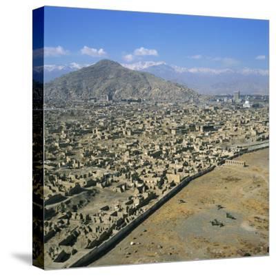Devastation from Civil War, Kabul, Afghanistan-David Lomax-Stretched Canvas Print