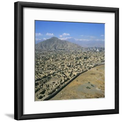 Devastation from Civil War, Kabul, Afghanistan-David Lomax-Framed Photographic Print