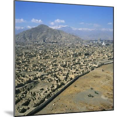 Devastation from Civil War, Kabul, Afghanistan-David Lomax-Mounted Photographic Print
