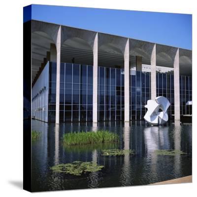 Palacio Do Itamaraty, Brasilia, UNESCO World Heritage Site, Brazil, South America-Geoff Renner-Stretched Canvas Print