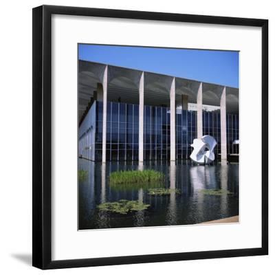 Palacio Do Itamaraty, Brasilia, UNESCO World Heritage Site, Brazil, South America-Geoff Renner-Framed Photographic Print