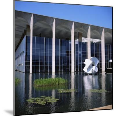 Palacio Do Itamaraty, Brasilia, UNESCO World Heritage Site, Brazil, South America-Geoff Renner-Mounted Photographic Print