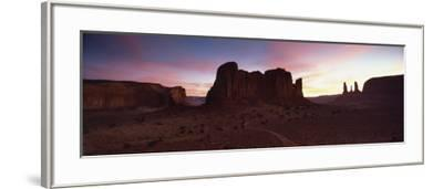 View Towards the Three Sisters at Dusk, Monument Valley Tribal Park, Arizona, USA-Lee Frost-Framed Photographic Print
