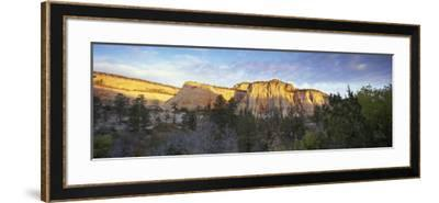 First Light on the Hills, Zion National Park, Utah, United States of America, North America-Lee Frost-Framed Photographic Print
