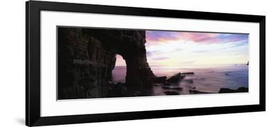 Dawn View over North Sea from Beach at Marsden Bay, South Shields, Tyne and Wear, England, UK-Lee Frost-Framed Photographic Print