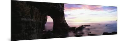Dawn View over North Sea from Beach at Marsden Bay, South Shields, Tyne and Wear, England, UK-Lee Frost-Mounted Photographic Print