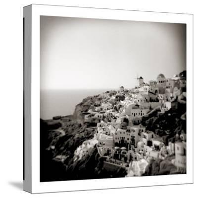 Polaroid of View of the Village of Oia, Santorini, Cyclades, Greek Islands, Greece, Europe-Lee Frost-Stretched Canvas Print