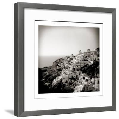 Polaroid of View of the Village of Oia, Santorini, Cyclades, Greek Islands, Greece, Europe-Lee Frost-Framed Photographic Print