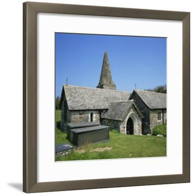 Church of St. Enodor, Rock, Cornwall, England, United Kingdom, Europe-Michael Jenner-Framed Photographic Print