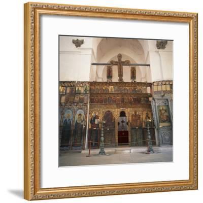 Iconostasis in Former Monastery of Apostolos Varnavas, St. Barnabas, North Cyprus-Christopher Rennie-Framed Photographic Print