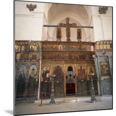Iconostasis in Former Monastery of Apostolos Varnavas, St. Barnabas, North Cyprus-Christopher Rennie-Mounted Photographic Print