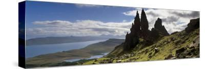 Old Man of Storr, Loch Leathan and Raasay Sound, Trotternish, Isle of Skye, Scotland-Patrick Dieudonne-Stretched Canvas Print