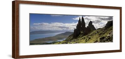 Old Man of Storr, Loch Leathan and Raasay Sound, Trotternish, Isle of Skye, Scotland-Patrick Dieudonne-Framed Photographic Print