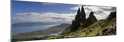 Old Man of Storr, Loch Leathan and Raasay Sound, Trotternish, Isle of Skye, Scotland-Patrick Dieudonne-Mounted Photographic Print