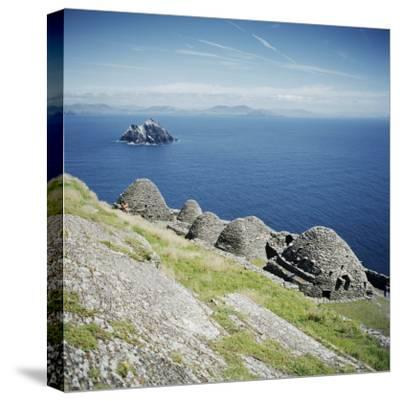 Ancient Monastic Settlement in Skellig Michael, County Kerry, Munster, Republic of Ireland-Andrew Mcconnell-Stretched Canvas Print
