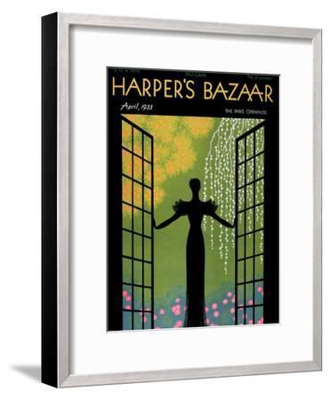 Harper's Bazaar, April 1933--Framed Art Print