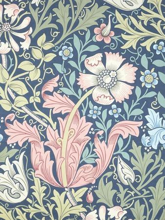 Compton Wallpaper, Paper, England, Late 19th Century-William Morris-Giclee Print