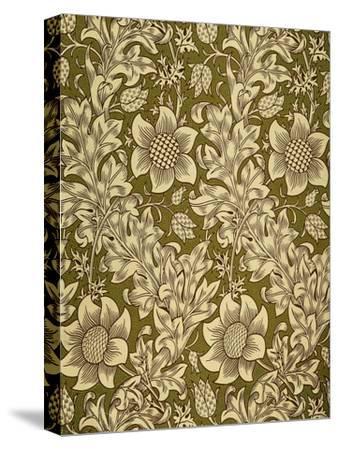 Fritillary Wallpaper, Colour Woodblock Print, England, 1885-William Morris-Stretched Canvas Print