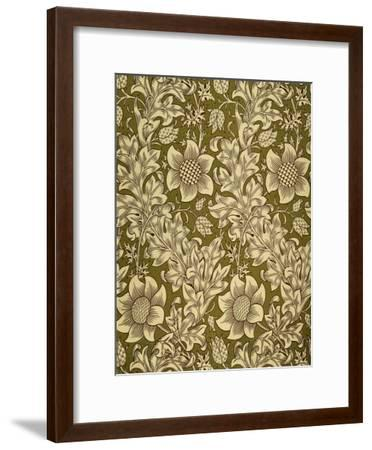 Fritillary Wallpaper, Colour Woodblock Print, England, 1885-William Morris-Framed Giclee Print