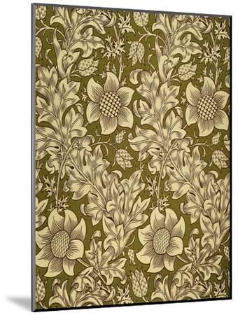 Fritillary Wallpaper, Colour Woodblock Print, England, 1885-William Morris-Mounted Giclee Print