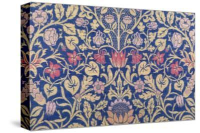 Violet and Columbine Furnishing Fabric, Woven Wool and Mohair, England, 1883-William Morris-Stretched Canvas Print