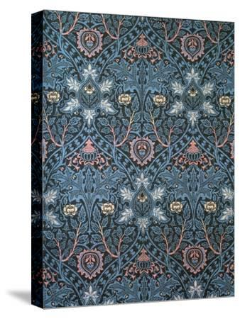 Isaphan Furnishing Fabric, Woven Wool, England, Late 19th Century-William Morris-Stretched Canvas Print