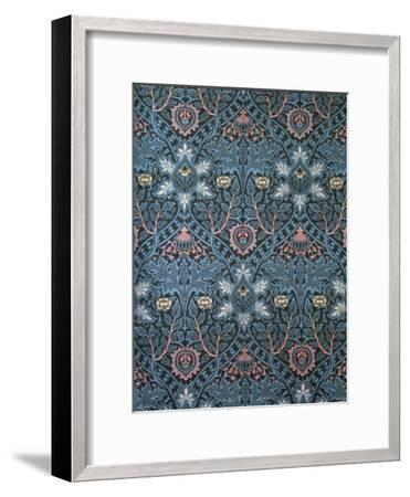 Isaphan Furnishing Fabric, Woven Wool, England, Late 19th Century-William Morris-Framed Premium Giclee Print