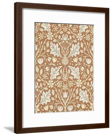 Triple Net Wallpaper, Paper, England, Late 19th Century-William Morris-Framed Giclee Print
