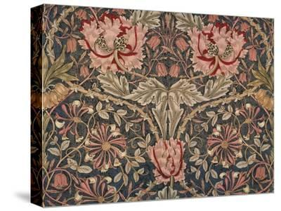 Honeysuckle Furnishing Fabric, Printed Linen, England, 1876-William Morris-Stretched Canvas Print