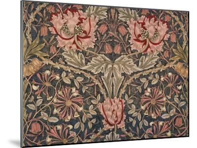 Honeysuckle Furnishing Fabric, Printed Linen, England, 1876-William Morris-Mounted Premium Giclee Print