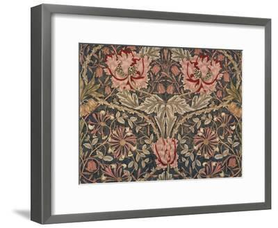 Honeysuckle Furnishing Fabric, Printed Linen, England, 1876-William Morris-Framed Giclee Print