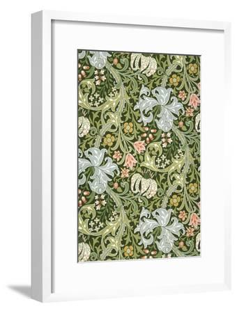 Golden Lily Wallpaper, Paper, England, Late 19th Century-William Morris-Framed Giclee Print