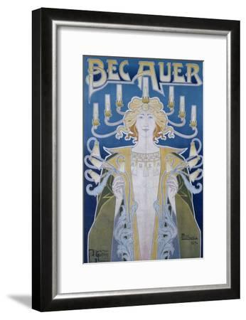 Bec Auer, Belgium, 1896-Privat Livemont-Framed Giclee Print