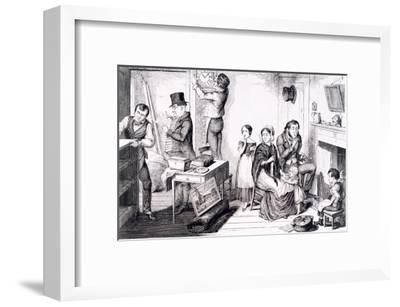 An Execution Sweeps Off the Greater Part of their Furniture, London, England, 1847-George Cruikshank-Framed Giclee Print