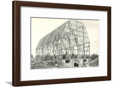 Barn Raising--Framed Art Print