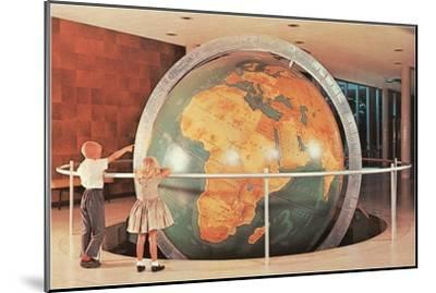 Children Looking at Giant Globe--Mounted Art Print