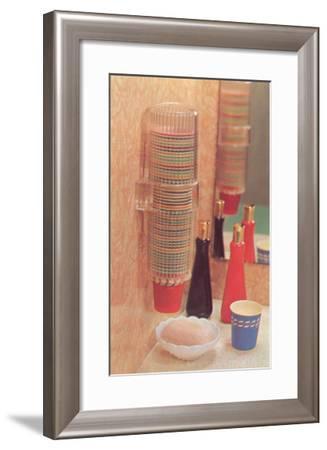 Bathroom Paper Cup Dispenser--Framed Art Print