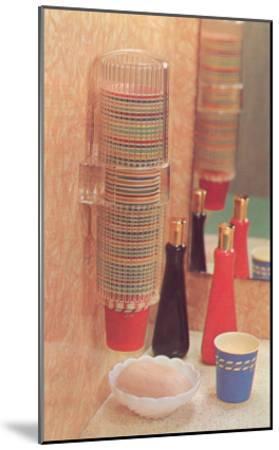 Bathroom Paper Cup Dispenser--Mounted Art Print