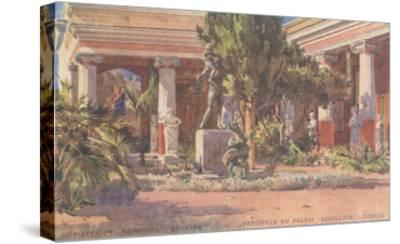 Ancient Greek Courtyard on CorfuArt--Stretched Canvas Print